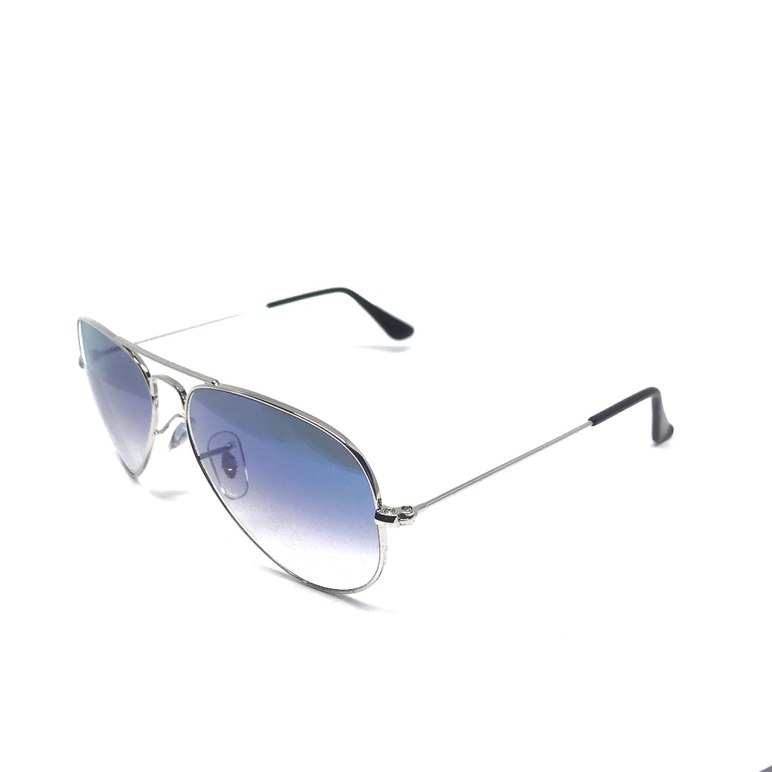 033ad674eb Image is loading RAY-BAN-SUNGLASSES-0RB3025-003-3F-AVIATOR-SILVER